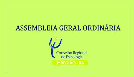 CRP – 03 convoca psicólogas/os para Assembleia Geral Ordinária