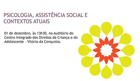 Grupo de Trabalho promove evento sobre Psicologia e Assistência Social em Vitória da Conquista