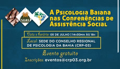 Evento no CRP-03 mobiliza categoria a participar das Conferências de Assistência Social