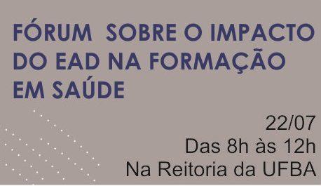 Conselho convida categoria para participar de Fórum sobre impactos da modalidade EAD em saúde
