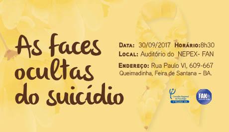 Suicídio é tema de atividade em Feira de Santana