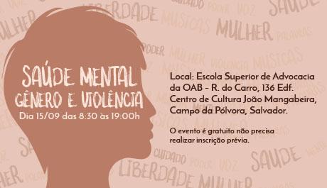 Encontro promove discussão sobre saúde mental, gênero e violência