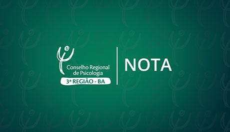 """Nota da Comissão de Orientação e Fiscalização sobre """"Psicologia Pastoral"""""""