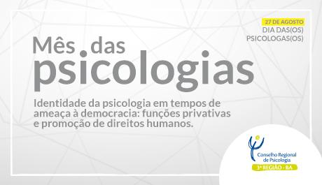 Mês da Psicologia já tem programação na Bahia