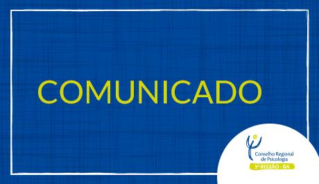 Comunicado: Apoio a eventos externos temporariamente suspenso