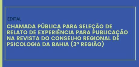 CRP-03 seleciona relato de experiência para revista da autarquia