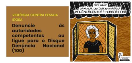 CRP-03 lembra do Dia Mundial de Conscientização da Violência contra a Pessoa Idosa