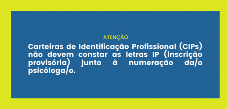 CRP-03 reitera determinação sobre adequação de Carteiras de Identificação Profissional (CIPs)