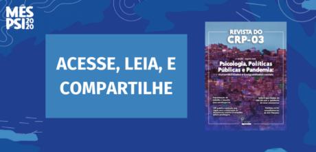 Pautando políticas públicas, 4ª Edição da Revista do CRP-03 é lançada na Semana das Psicologias