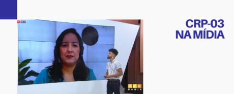 CRP-03 fala no TVE Revista sobre violência contra a mulher