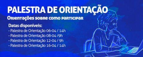 Calendário de abril para Palestra de Orientação já está disponível. Inscreva-se!