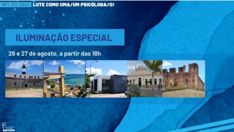 Cartões postais da Bahia serão iluminados em homenagem ao Dia da/o Psicóloga/o