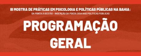 Confira a programação da 3ª edição da Mostra de Práticas em Psicologia e Políticas Públicas
